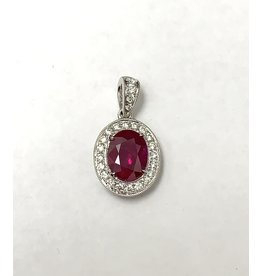2.02ct Ruby & Diamond Pendant