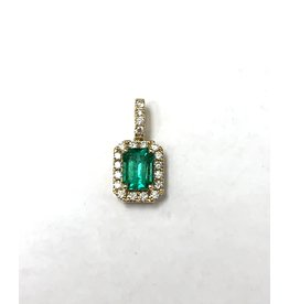 0.88ct Emerald & Diamond Pendant