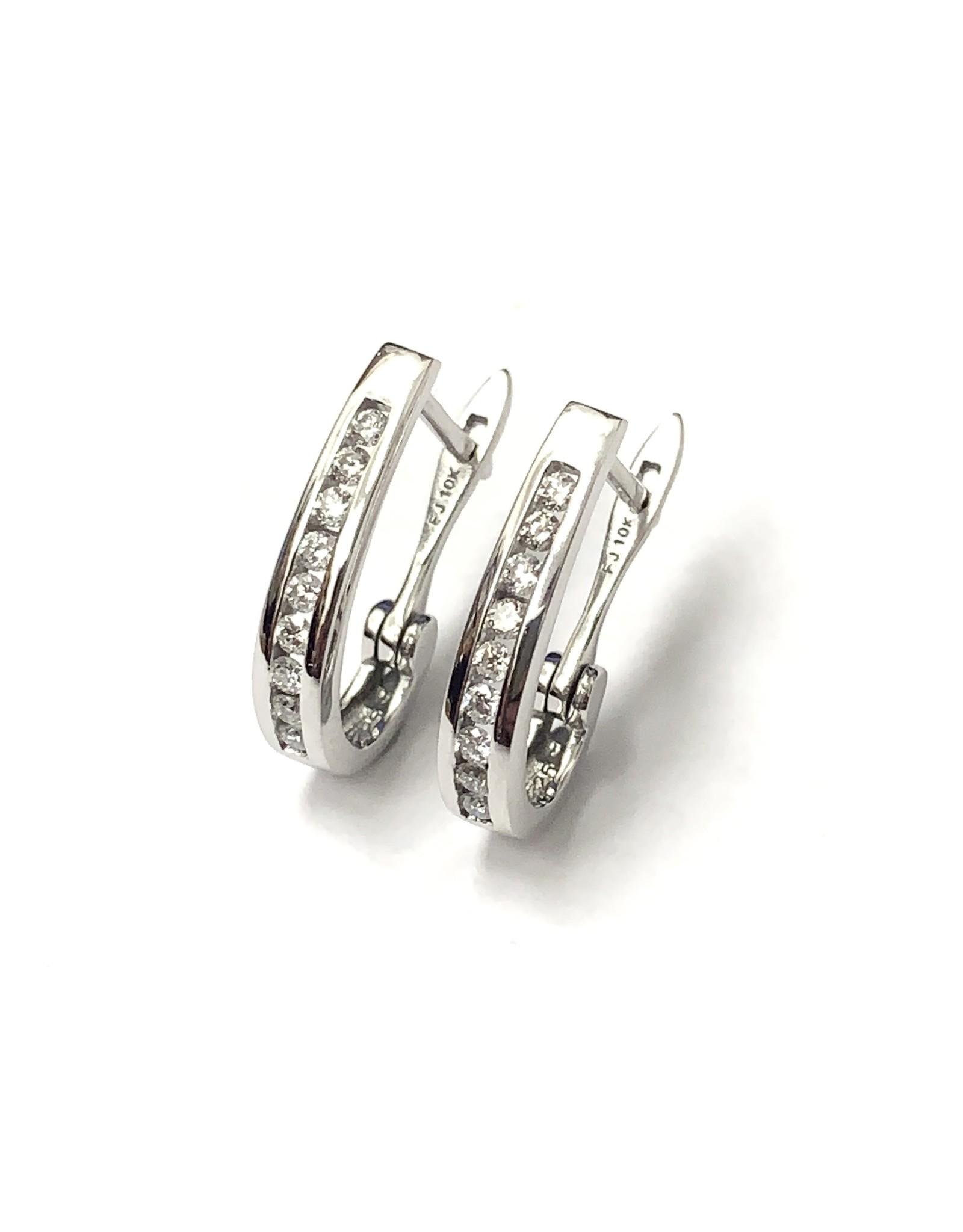 0.25ctw Diamond Hoop Earrings 10KW