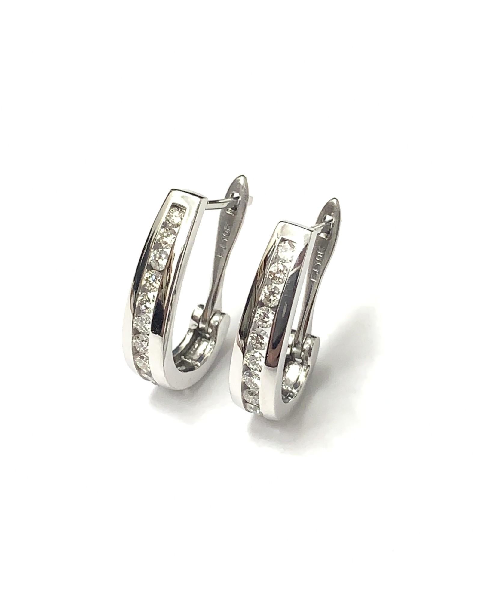 0.75ctw Diamond Hoop Earrings 10KW