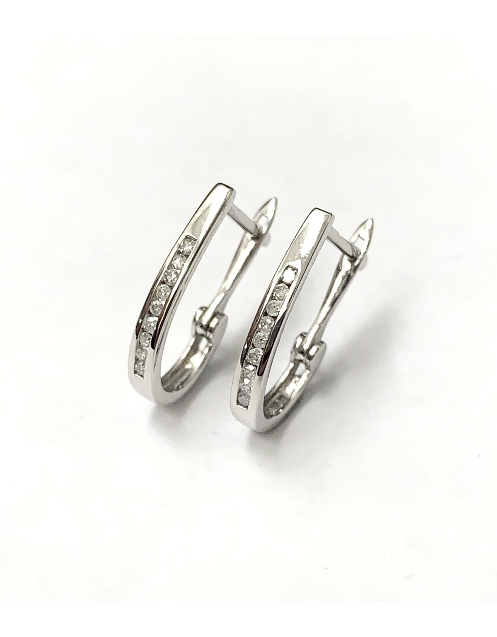0.10ctw Diamond Hoop Earrings 10KW