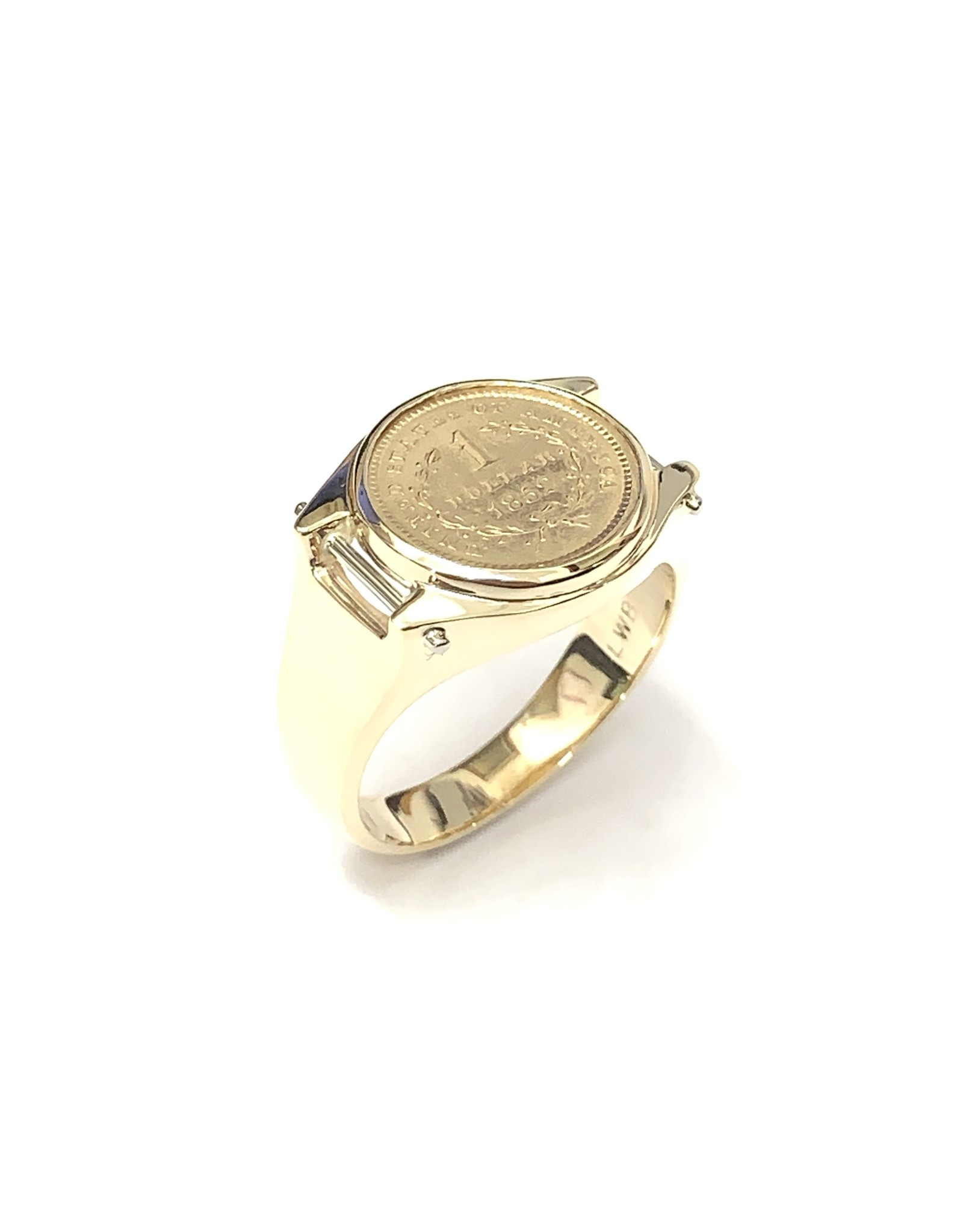 1852 United States 1 Dollar Ring 10KY