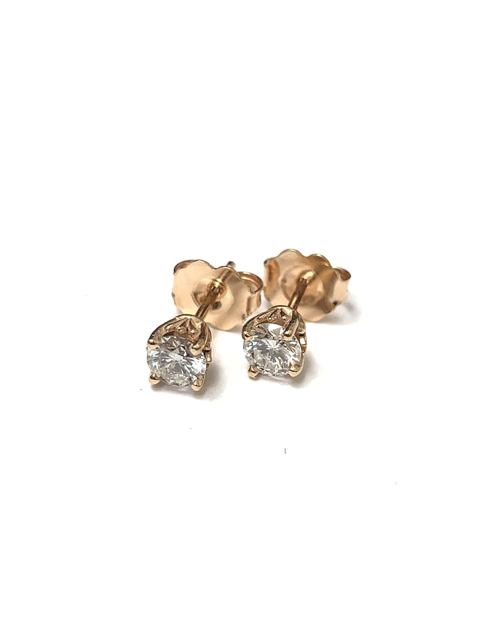 0.44ctw Diamond Studs 14KR