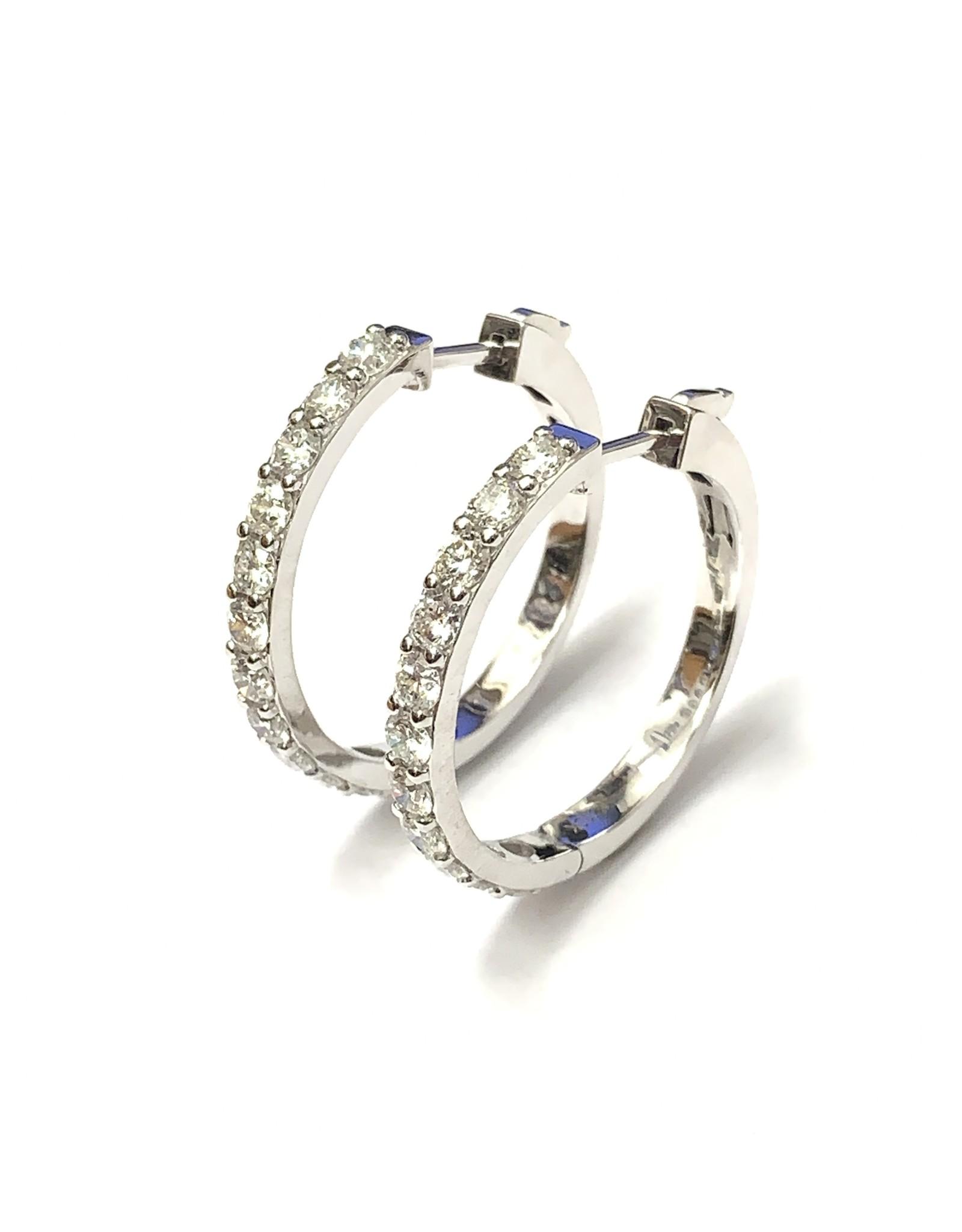 2.00ct Diamond Hoop Earrings 10KW