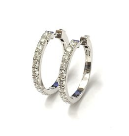 2.00ct Diamond Hoops