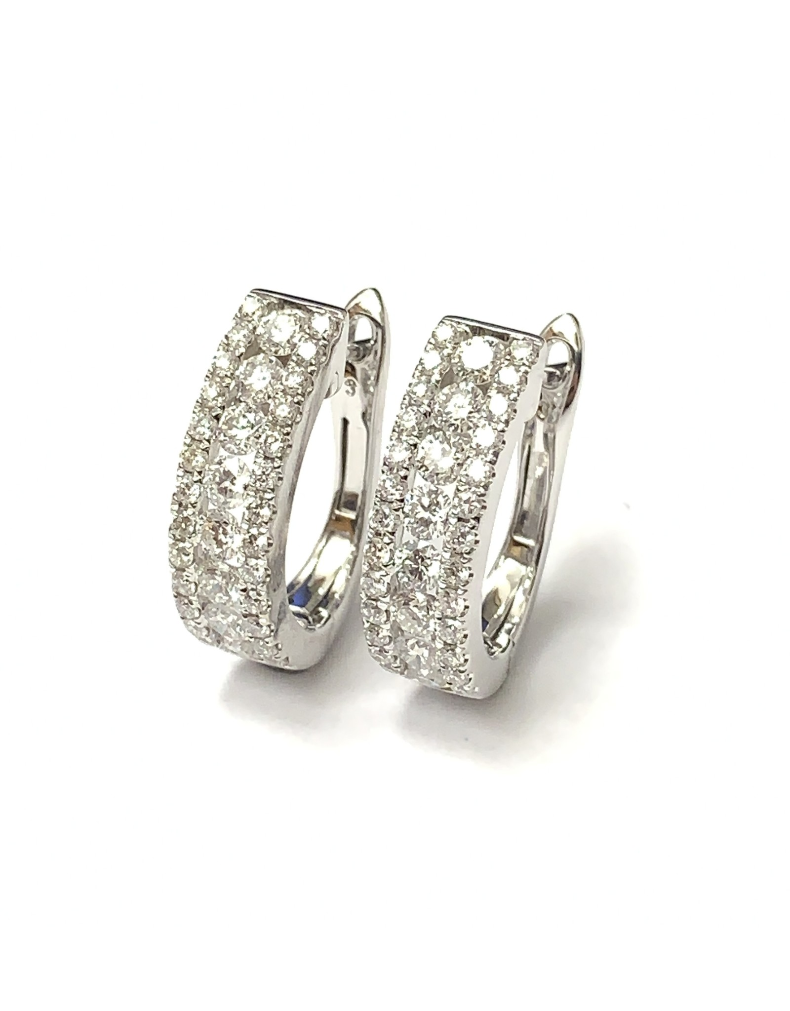 1.50ctw Diamond Lever Back Earrings 18KW