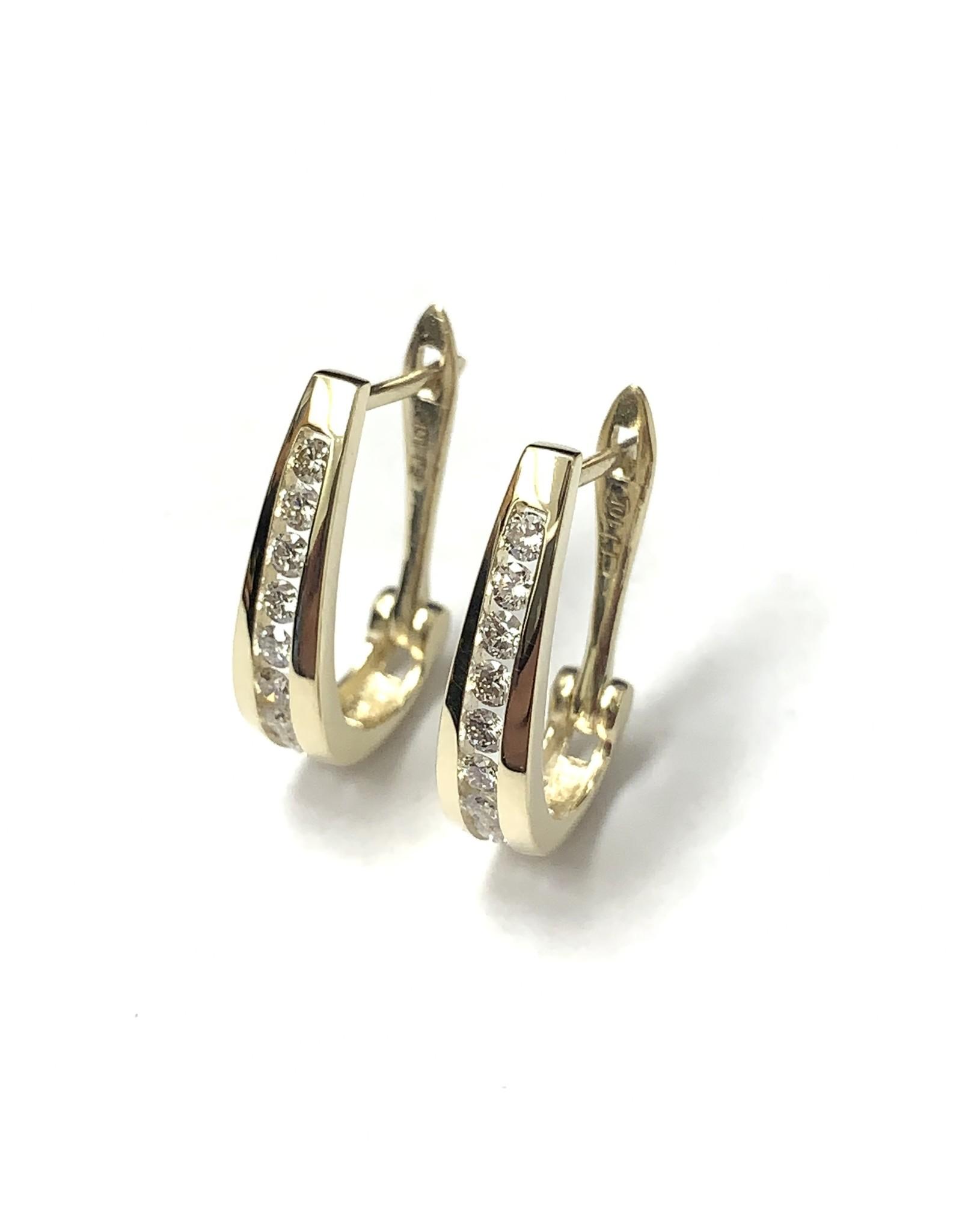 0.50ctw Diamond Hoop Earrings 10KY