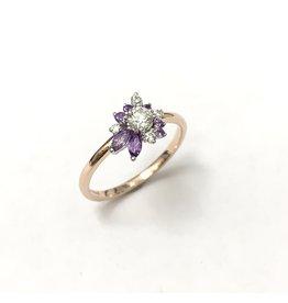 Wildflower Diamond & Amethyst Cluster Ring