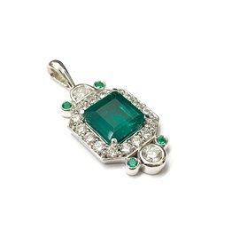 Custom Emerald and Diamond Pendant