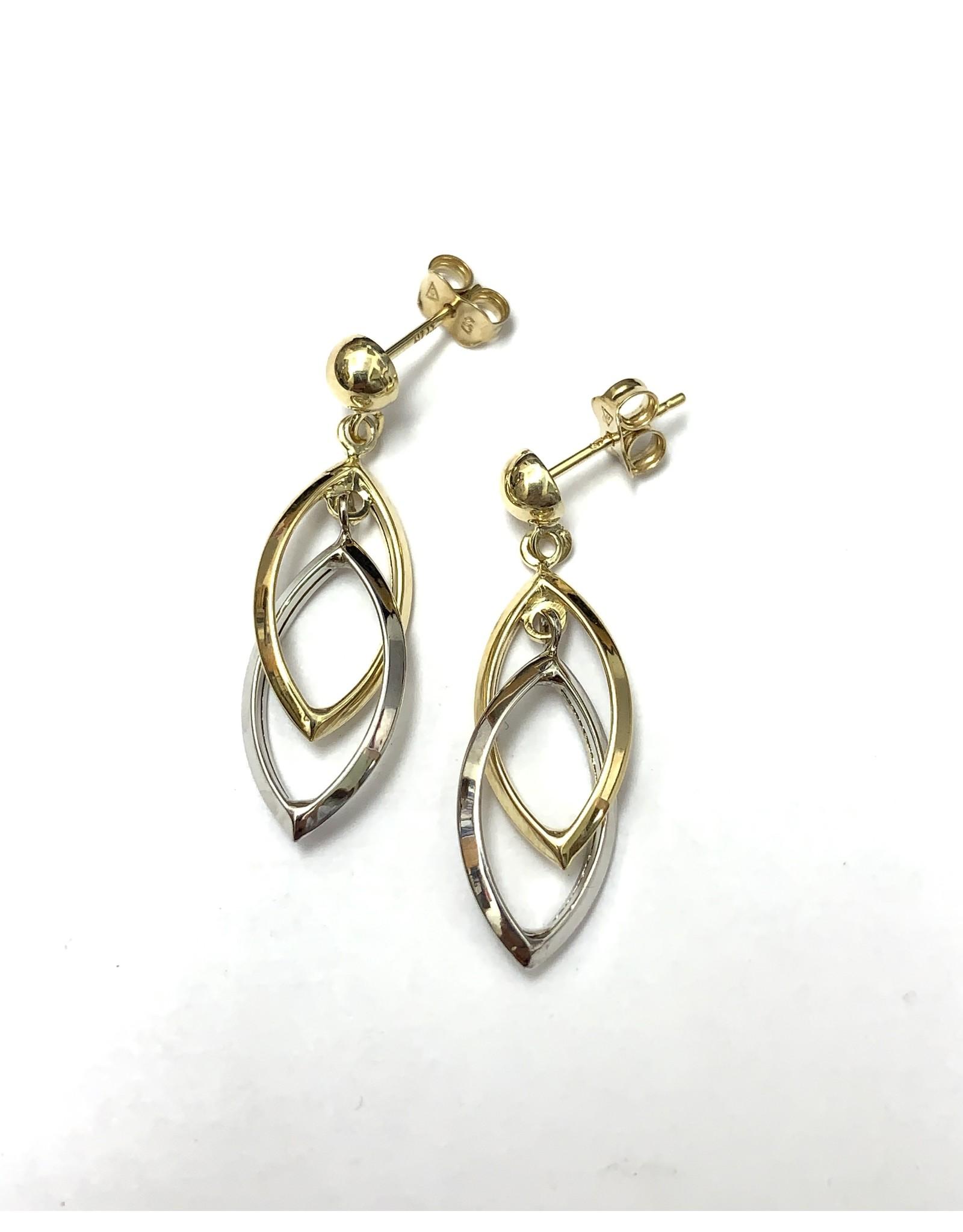 Double Hoop Drop Earrings 10KWY