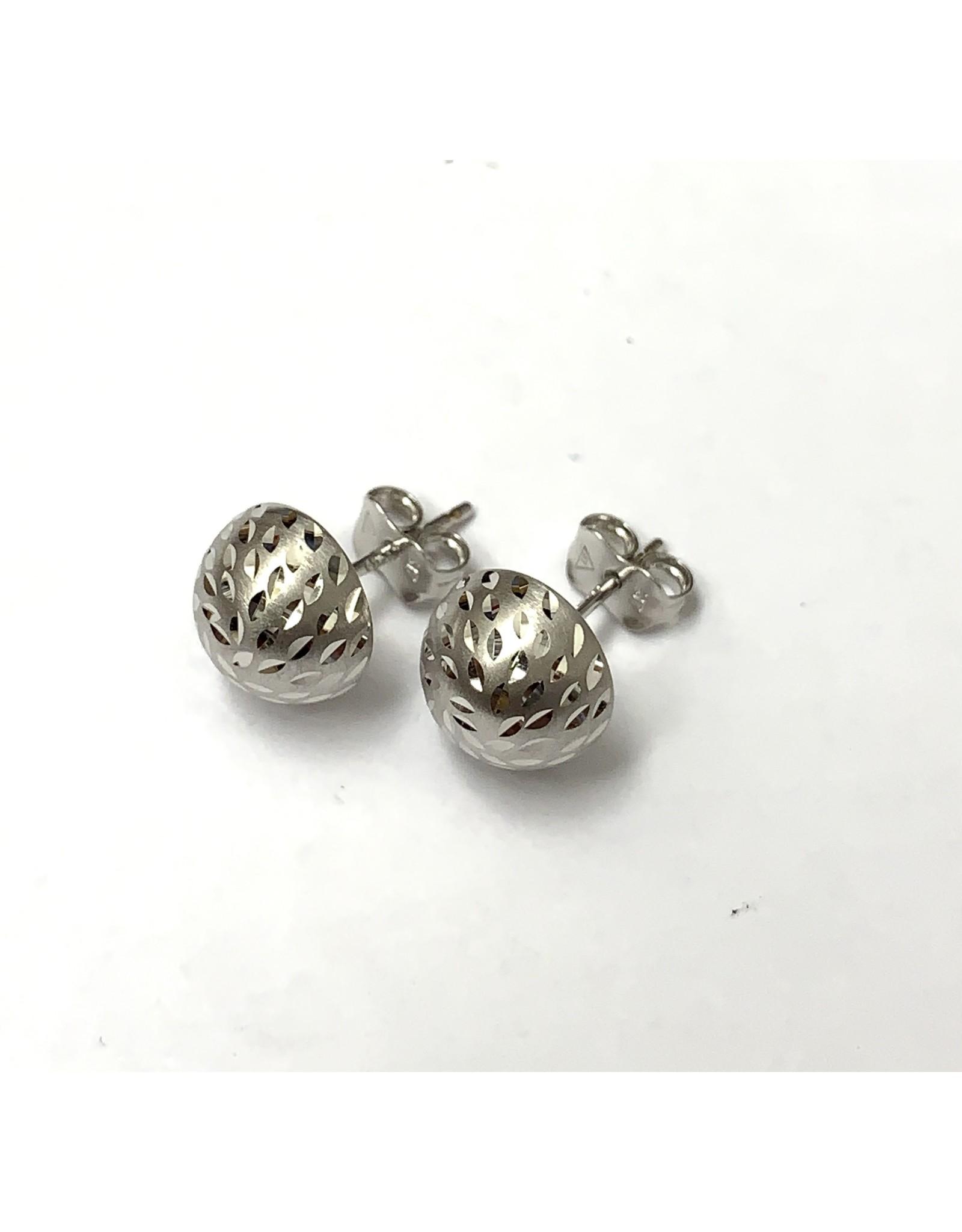 9mm Half-Ball Stud Earrings 10KW