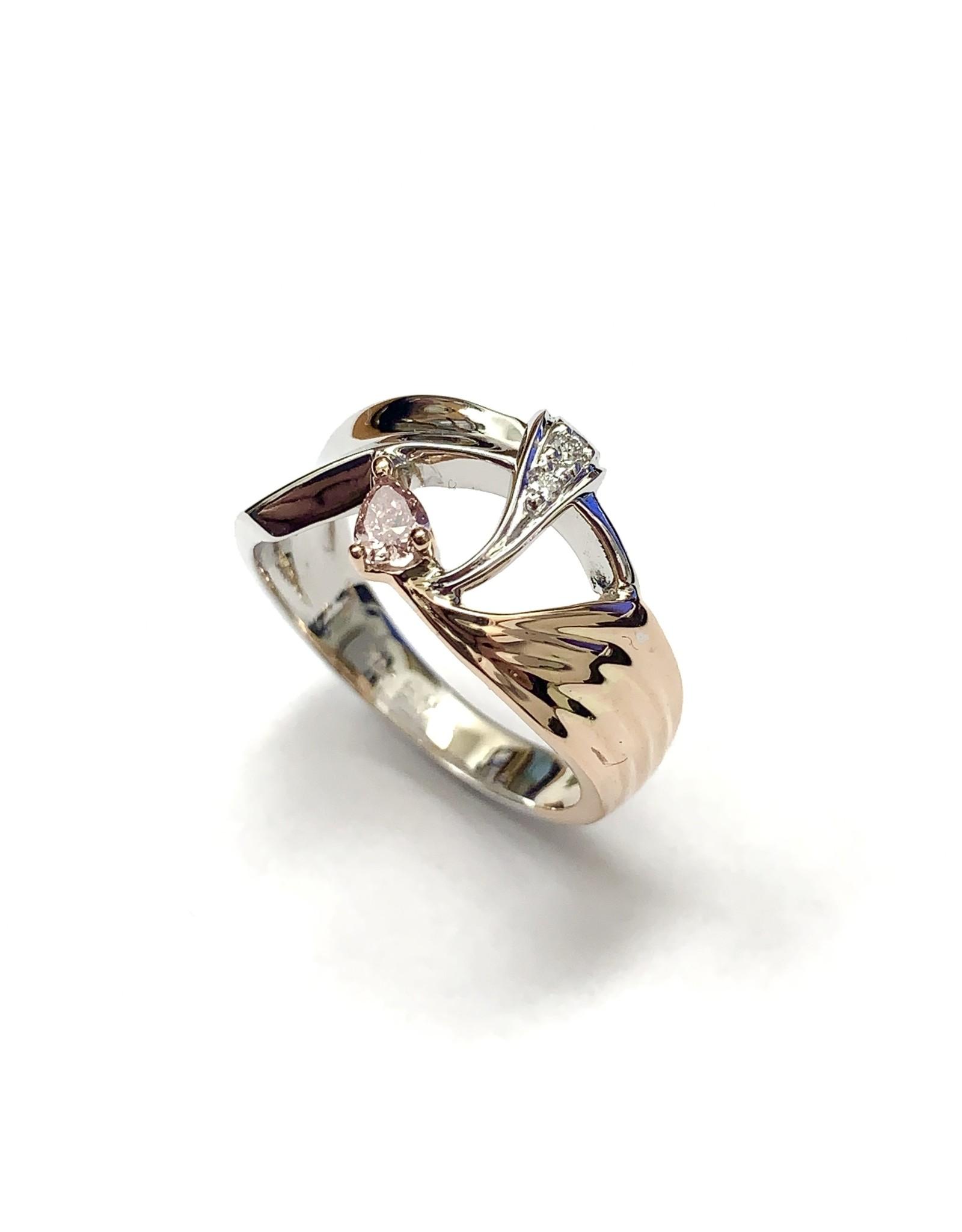 Custom Fancy Coloured Diamond Ring 14KWR