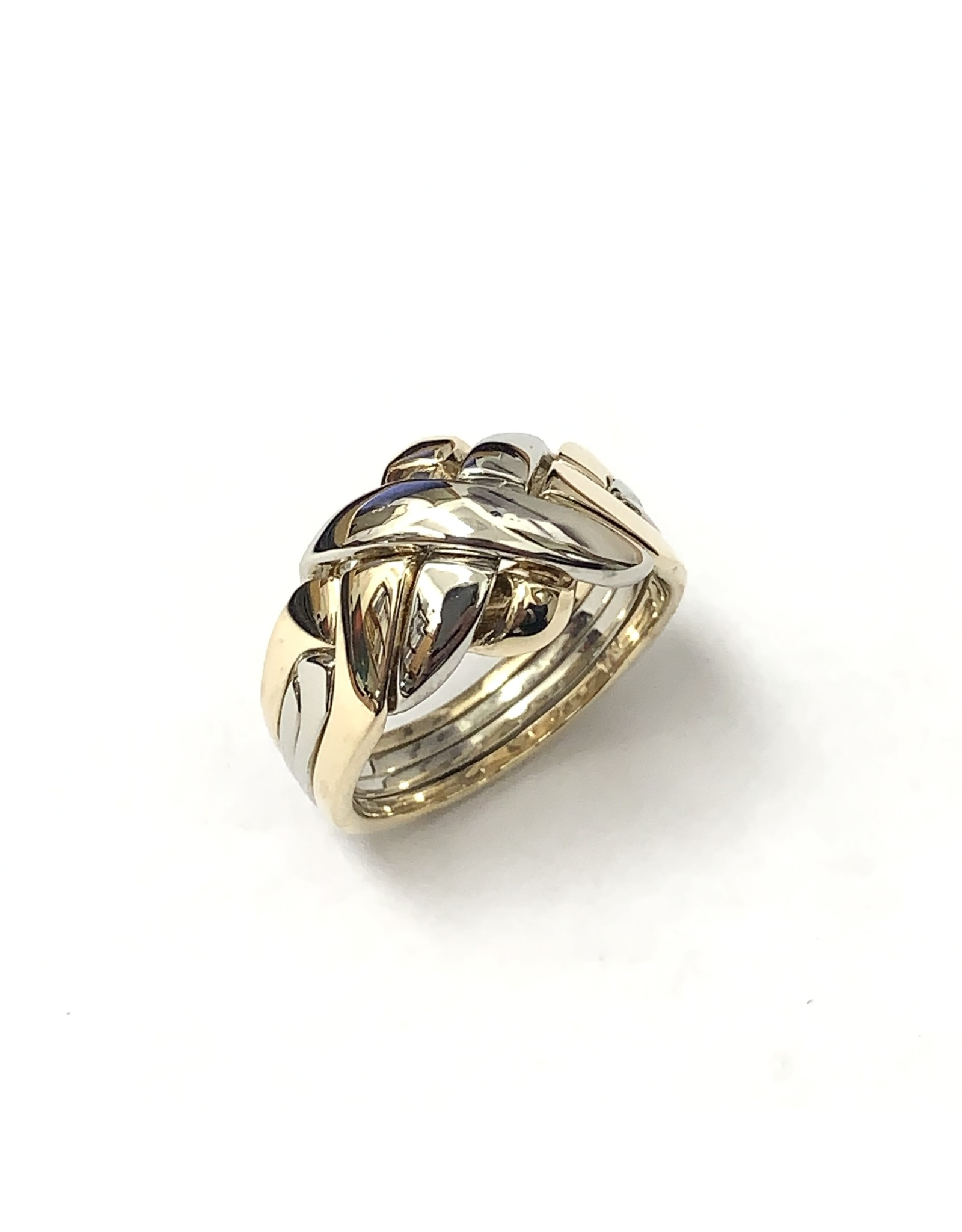 4-Band Two-Tone Puzzle Ring 10KWY