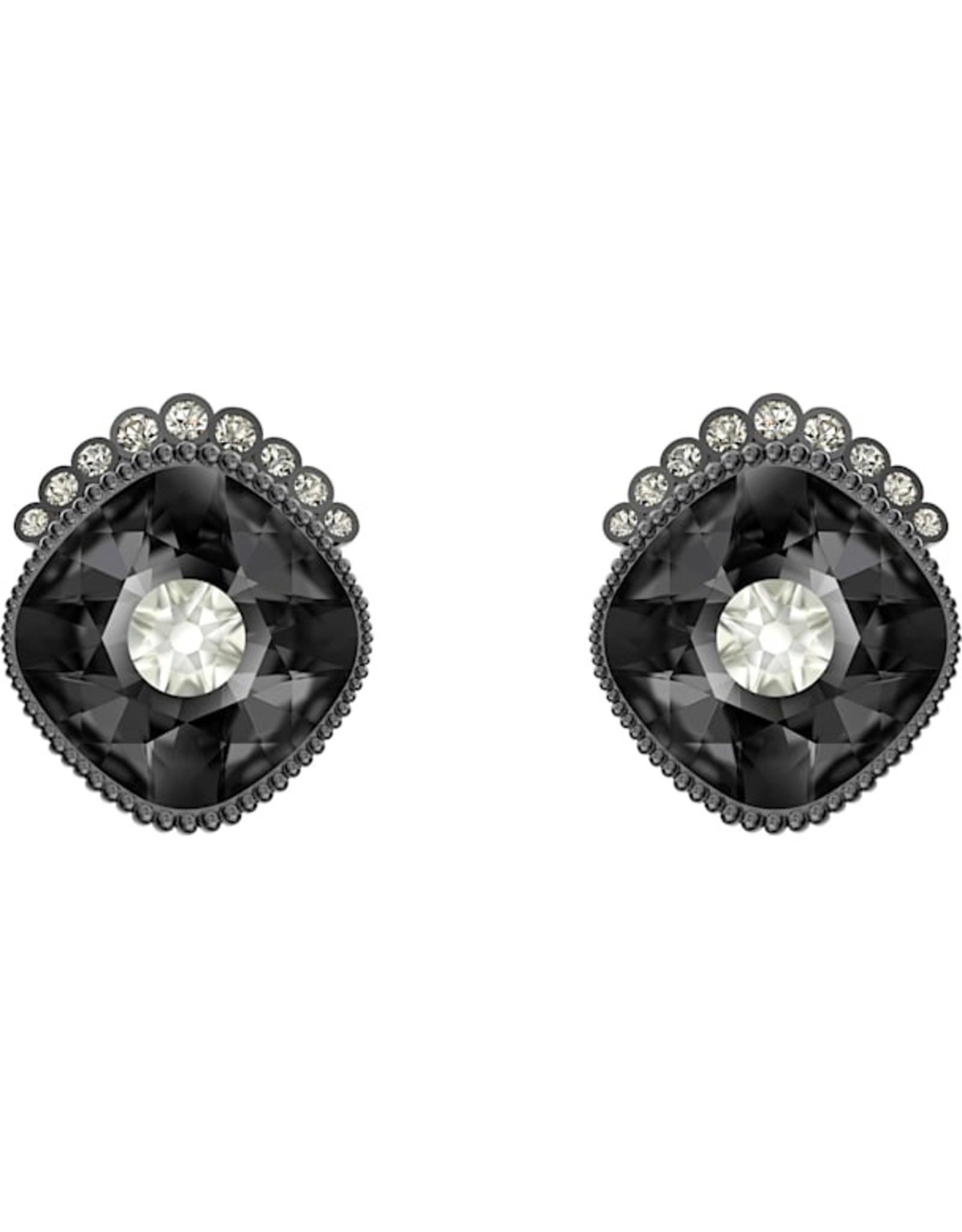 Swarovski Swarovski Black Baroque Stud Earrings