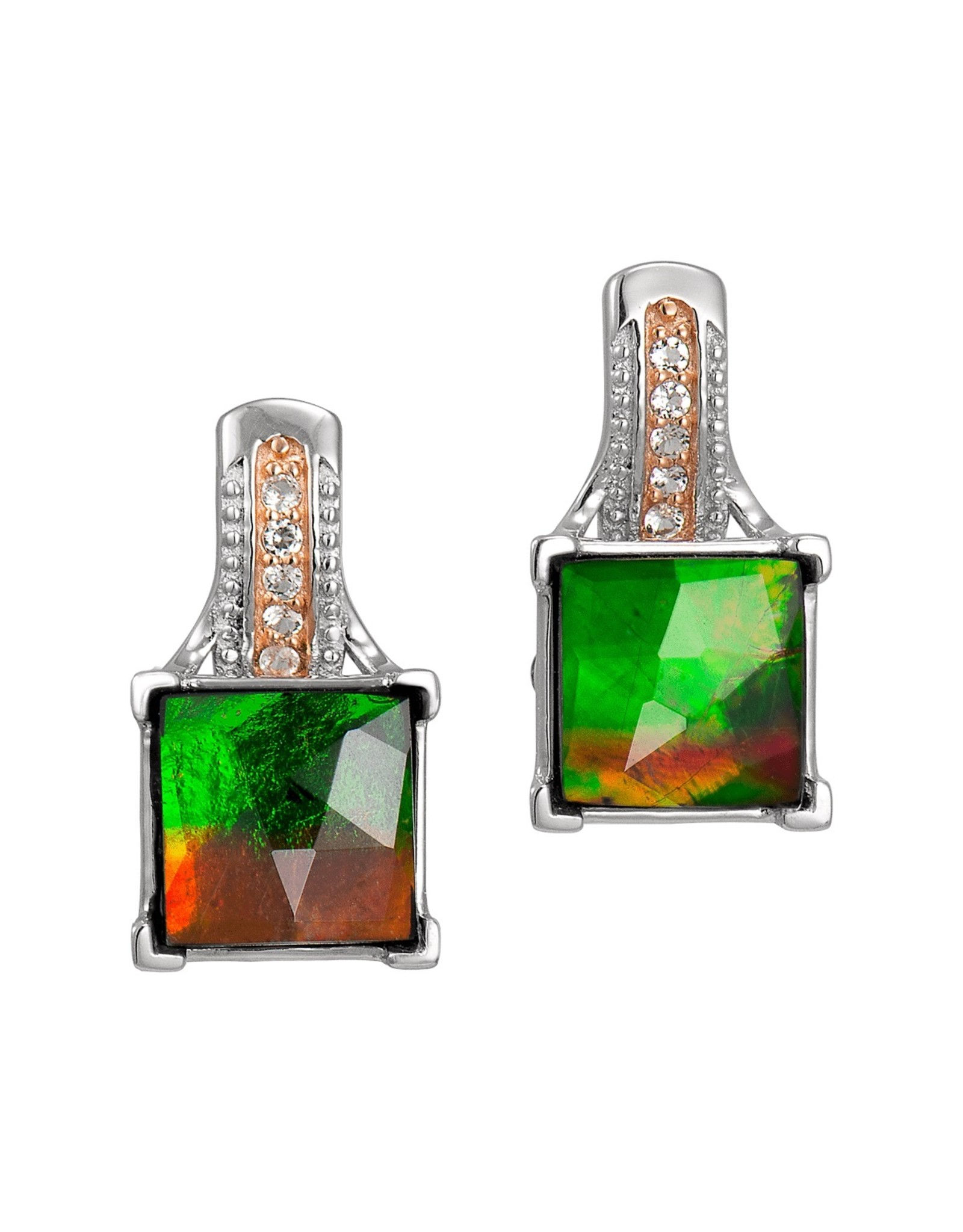 Korite Raye Ammolite Earrings