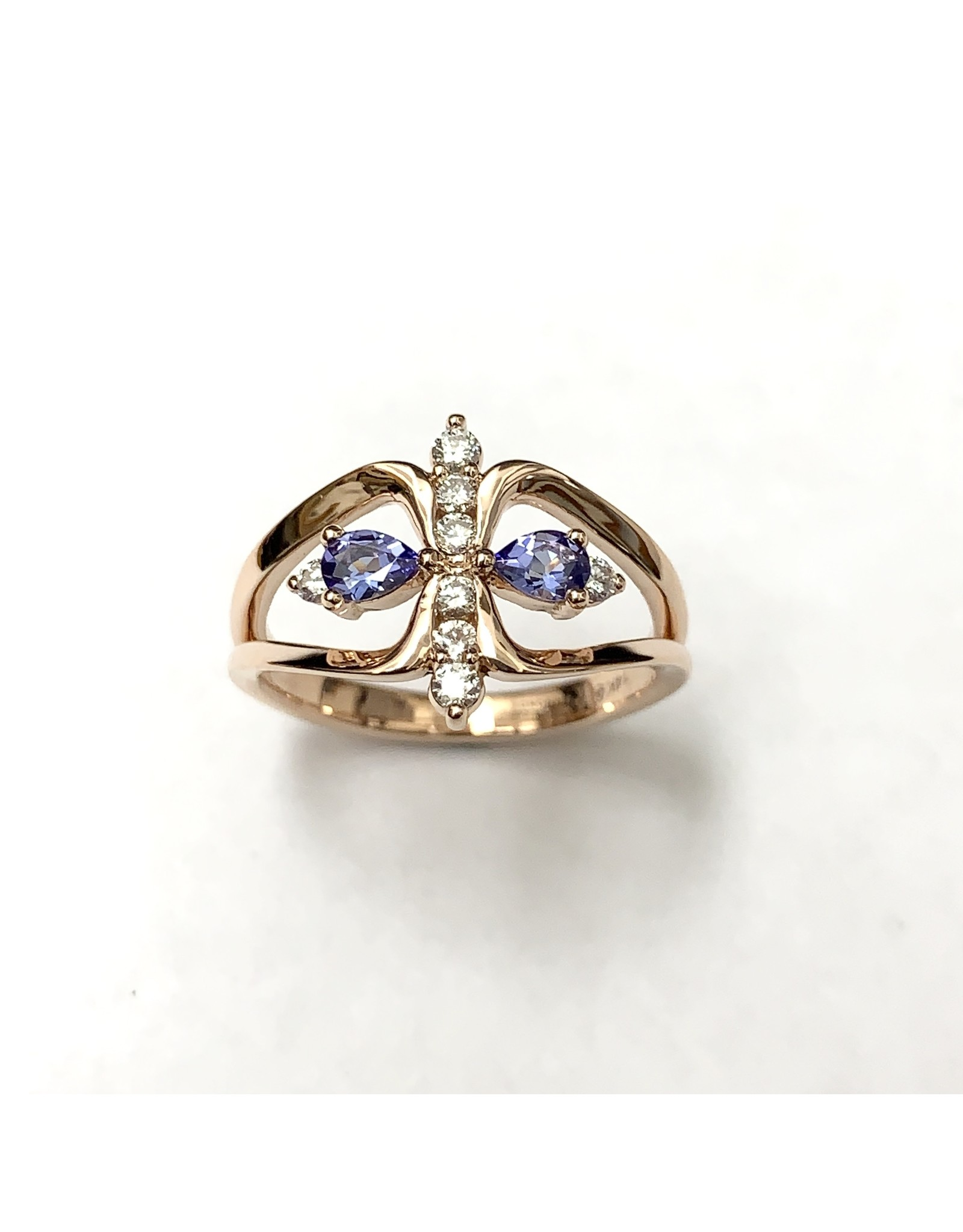 Tanzanite & Diamond Ring 14KR