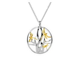 Keith Jack Dragonfly in Reeds Pendant