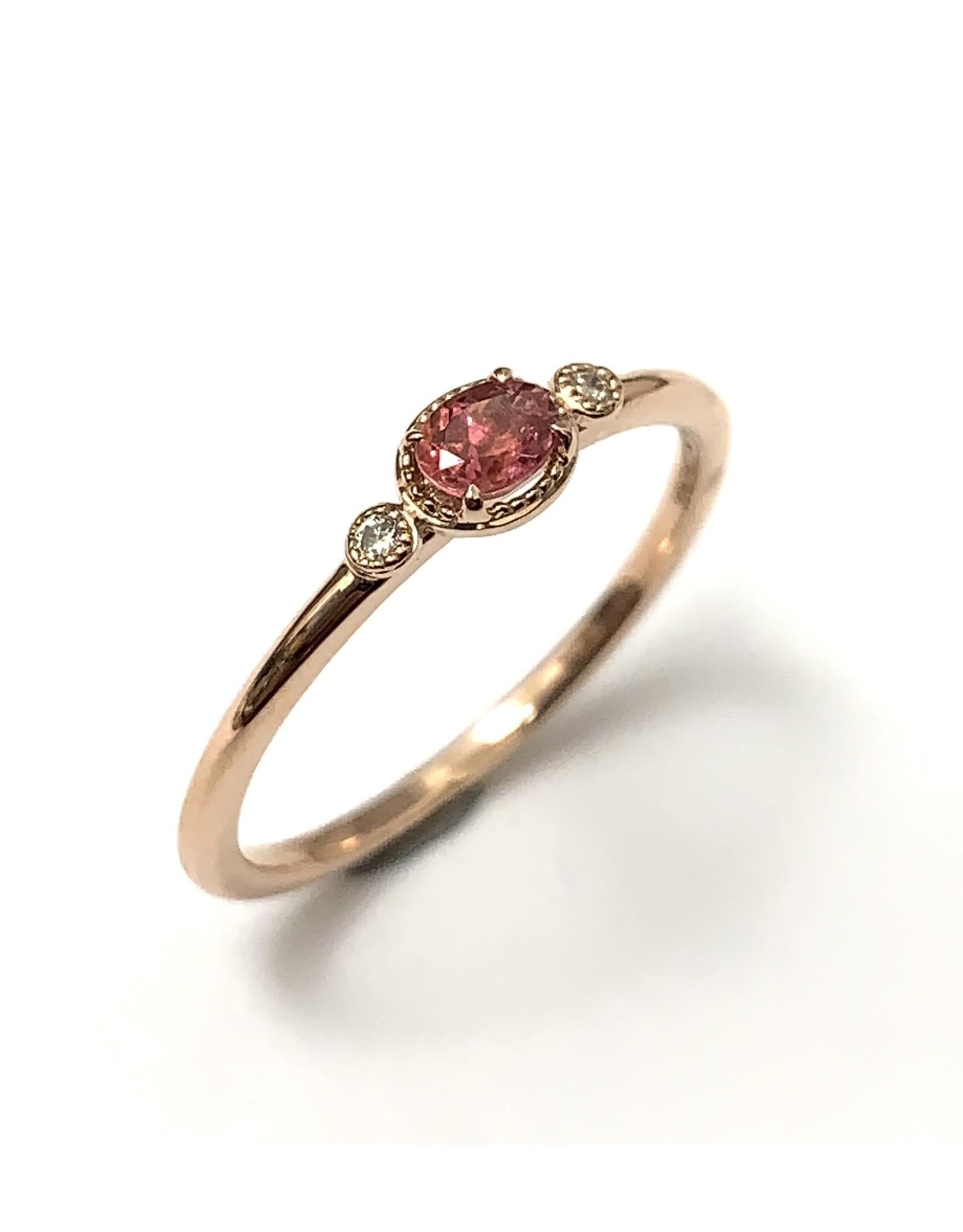 Chi Chi Tourmaline & Diamond Ring 10KR