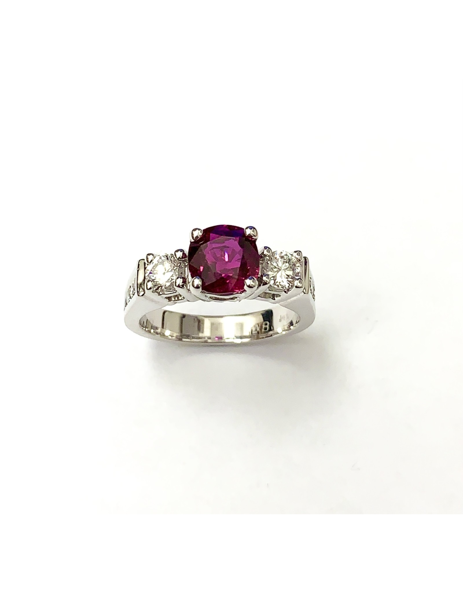 2.03ct Ruby & Diamond Ring 14KW