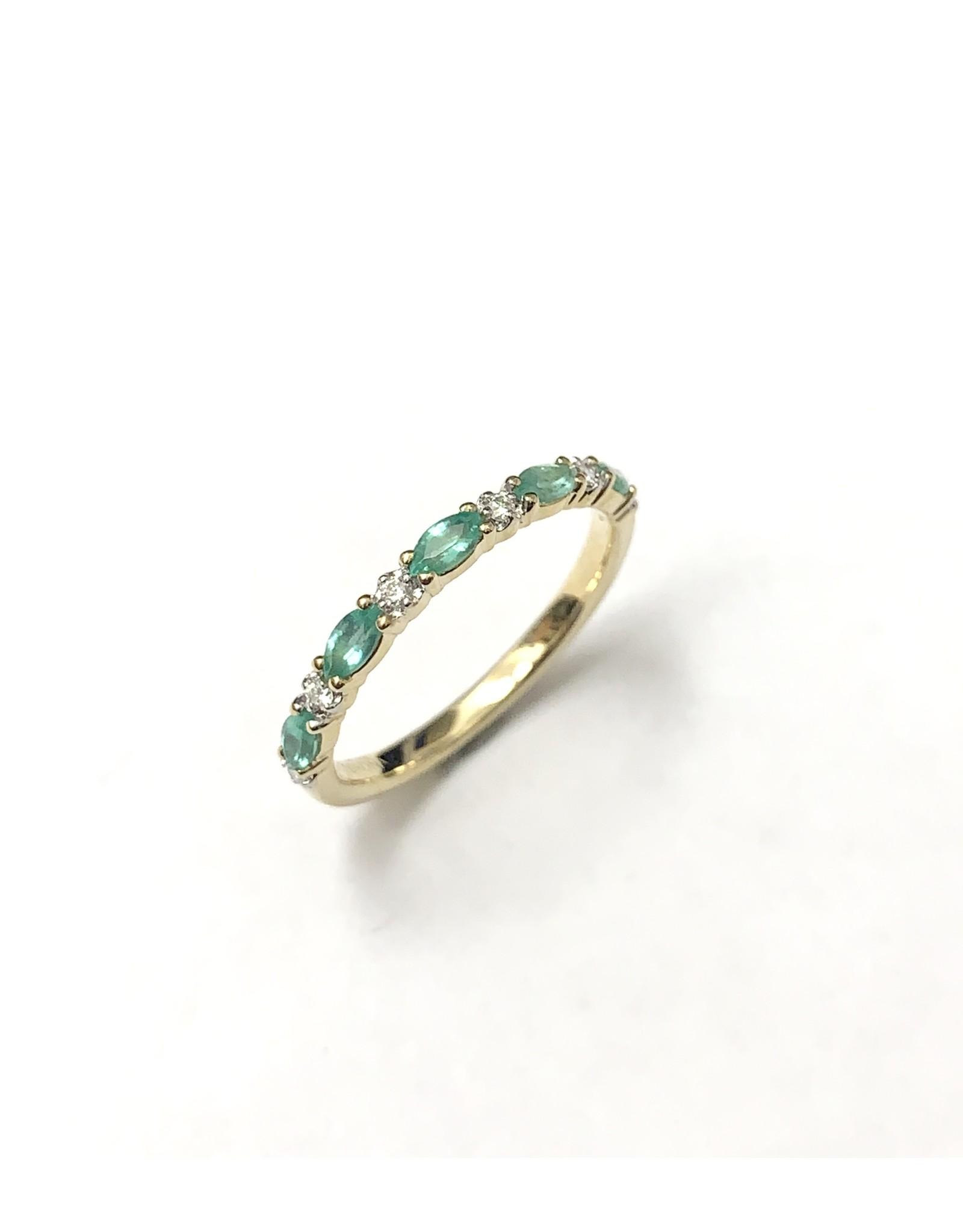 Chi Chi Emerald & Diamond Ring 10KY