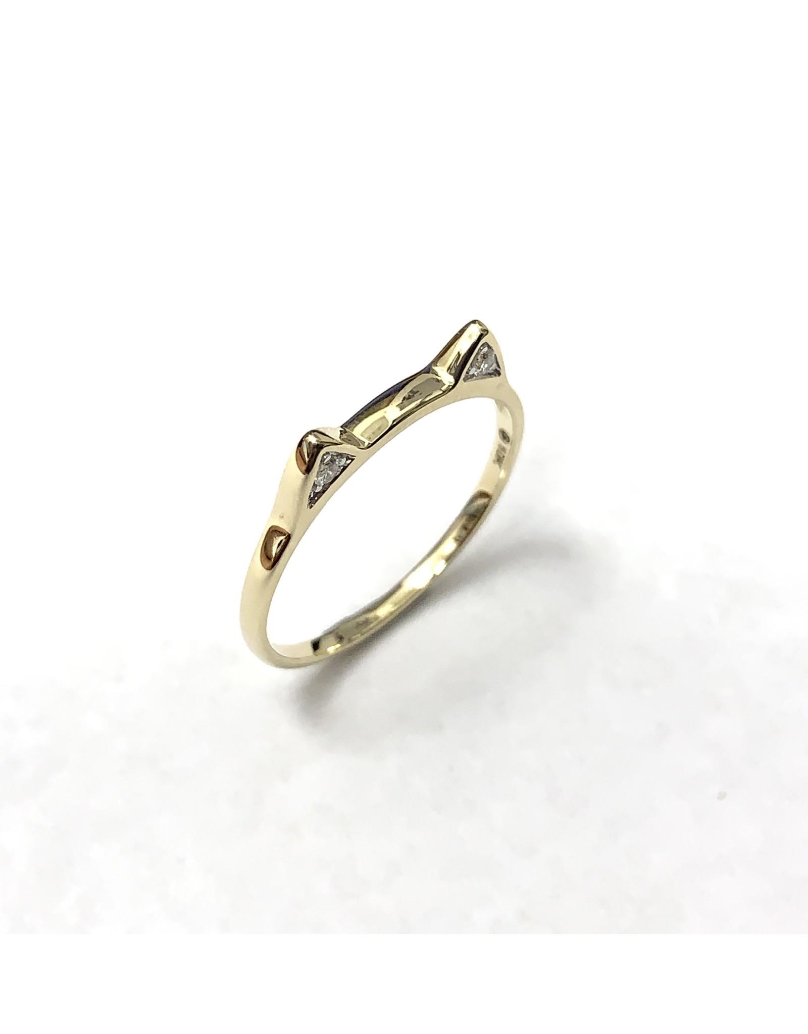 Chi Chi Cat Ears Diamond Ring 10KY