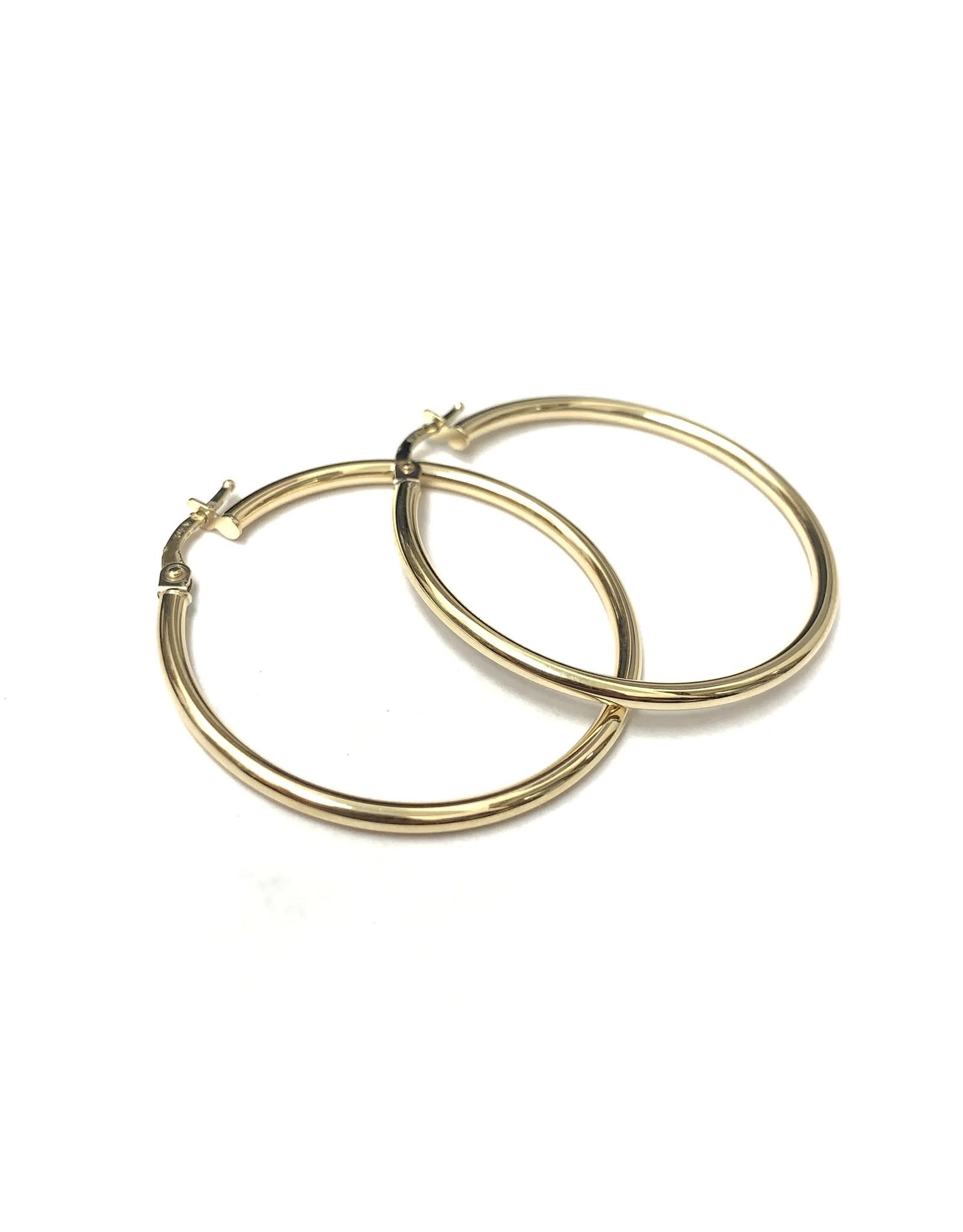 35mm Classic Hoop Earrings 10KY