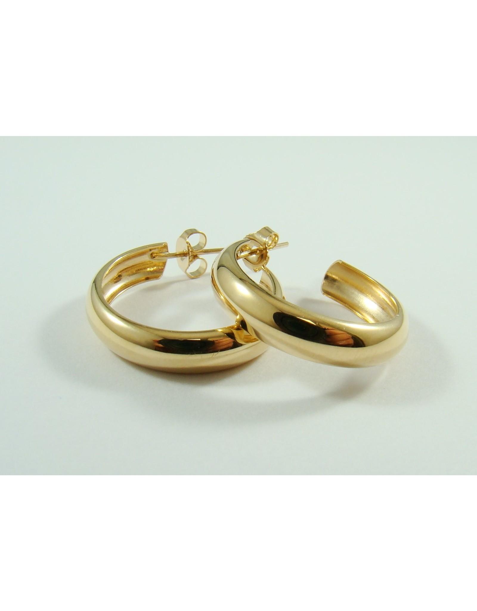 23mm Hoop Earrings 14KY