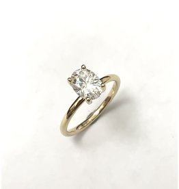 Oval Moissanite Solitaire Ring
