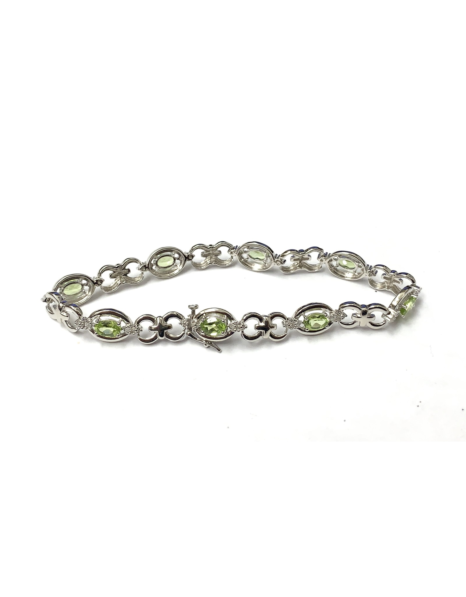 Peridot & Diamond Bracelet SS