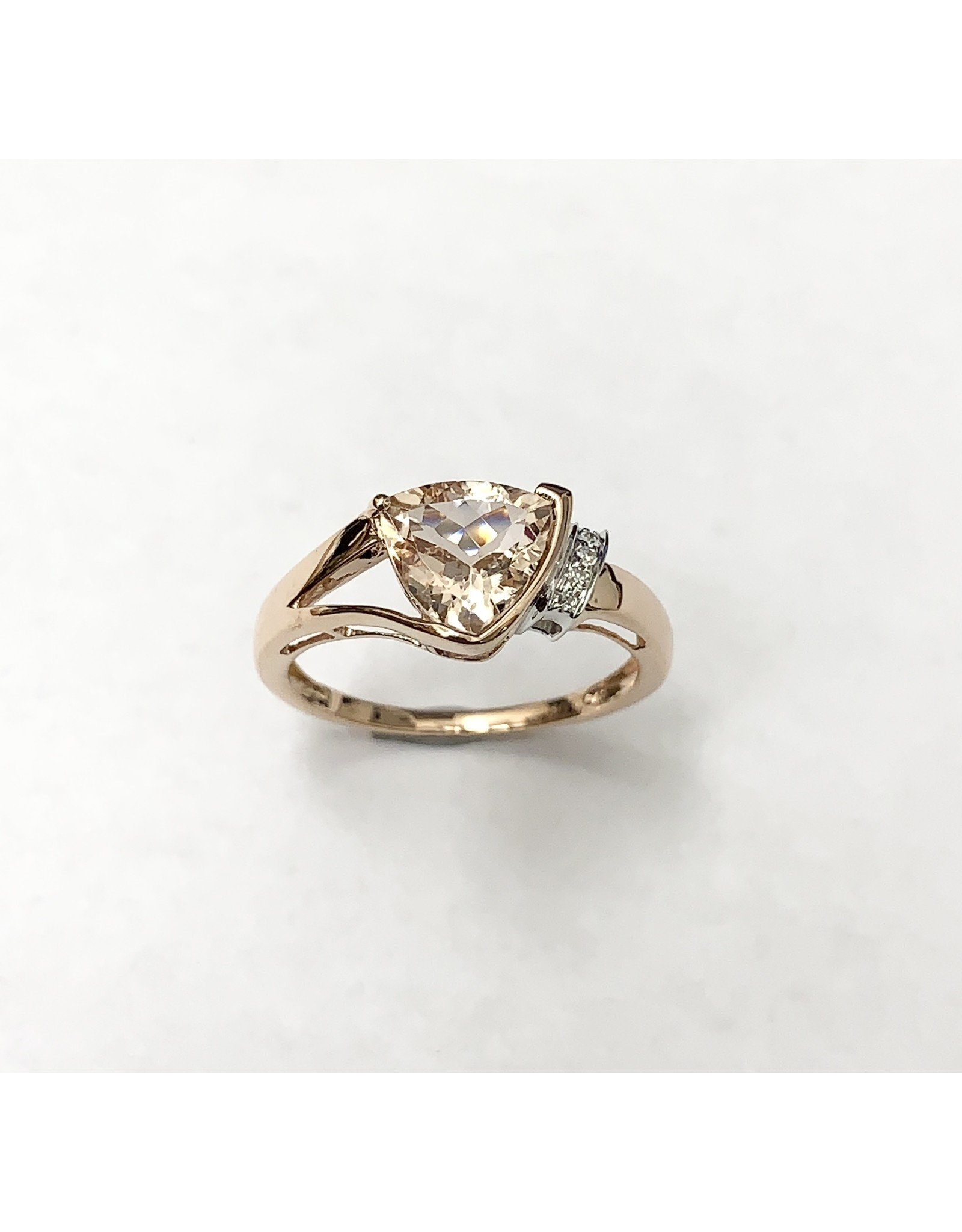 Morganite & Diamond Ring 14KR