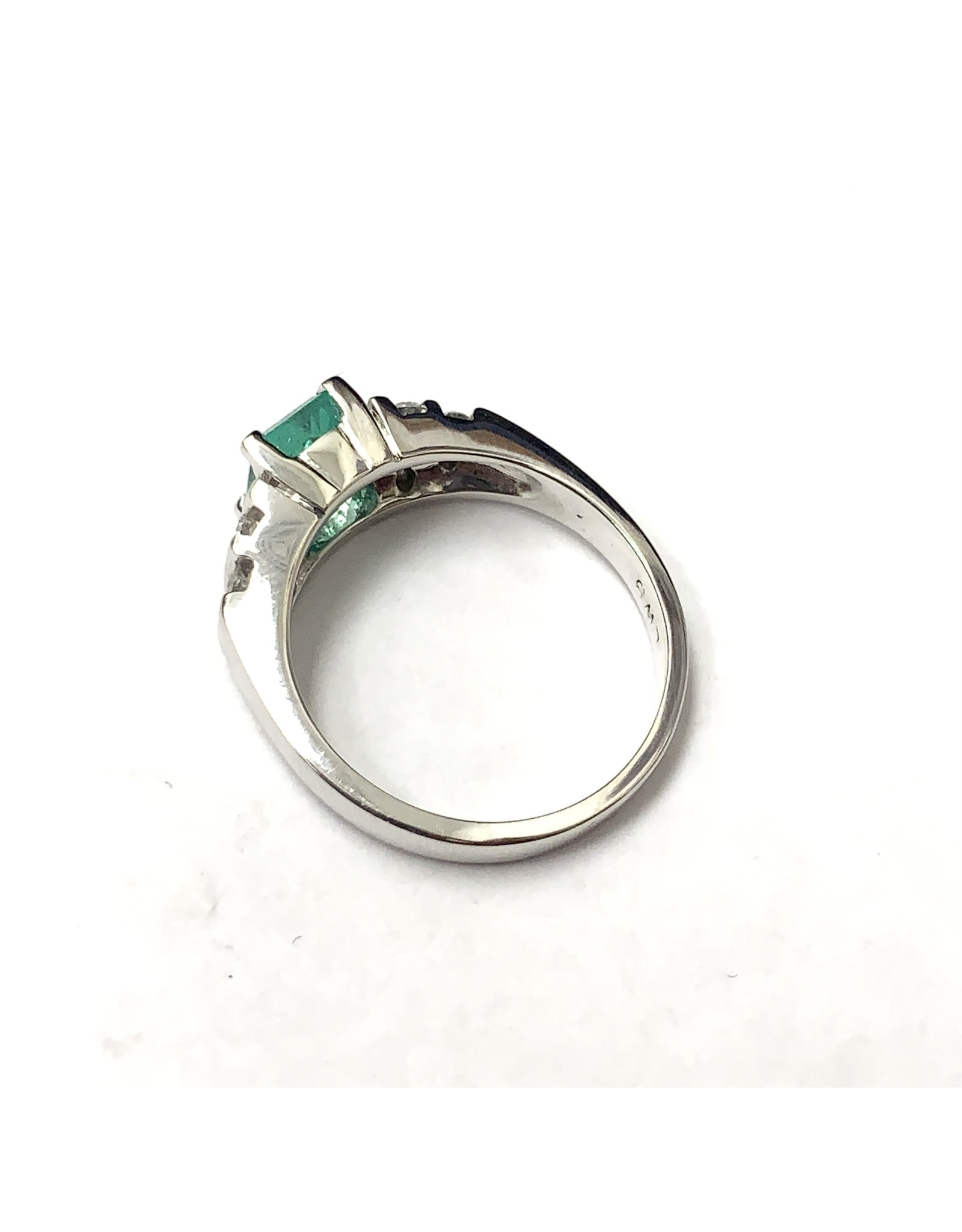 1.07ct Colombian Emerald and Diamond Ring 14KW