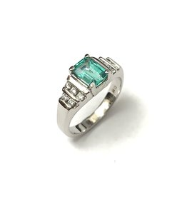 1.07ct Colombian Emerald and Diamond Ring