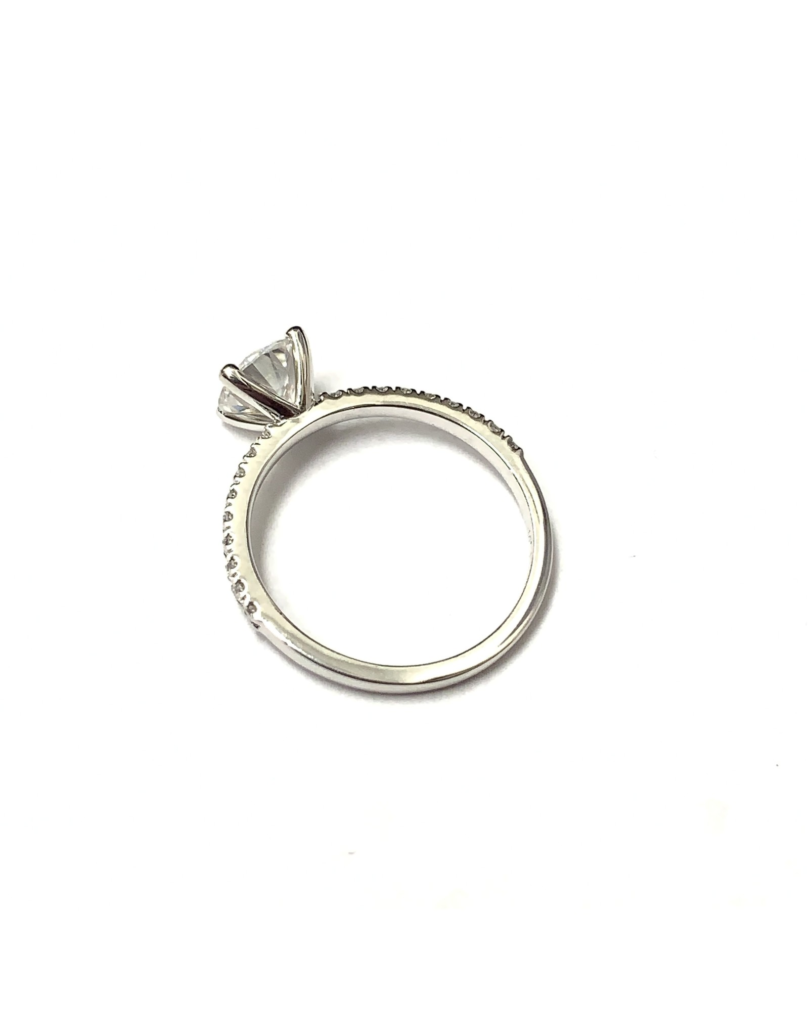 6.5mm Moissanite & Lab Diamond Ring 14KW