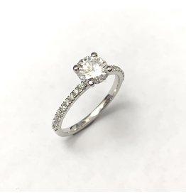 6.5mm Moissanite & Lab Diamond Ring