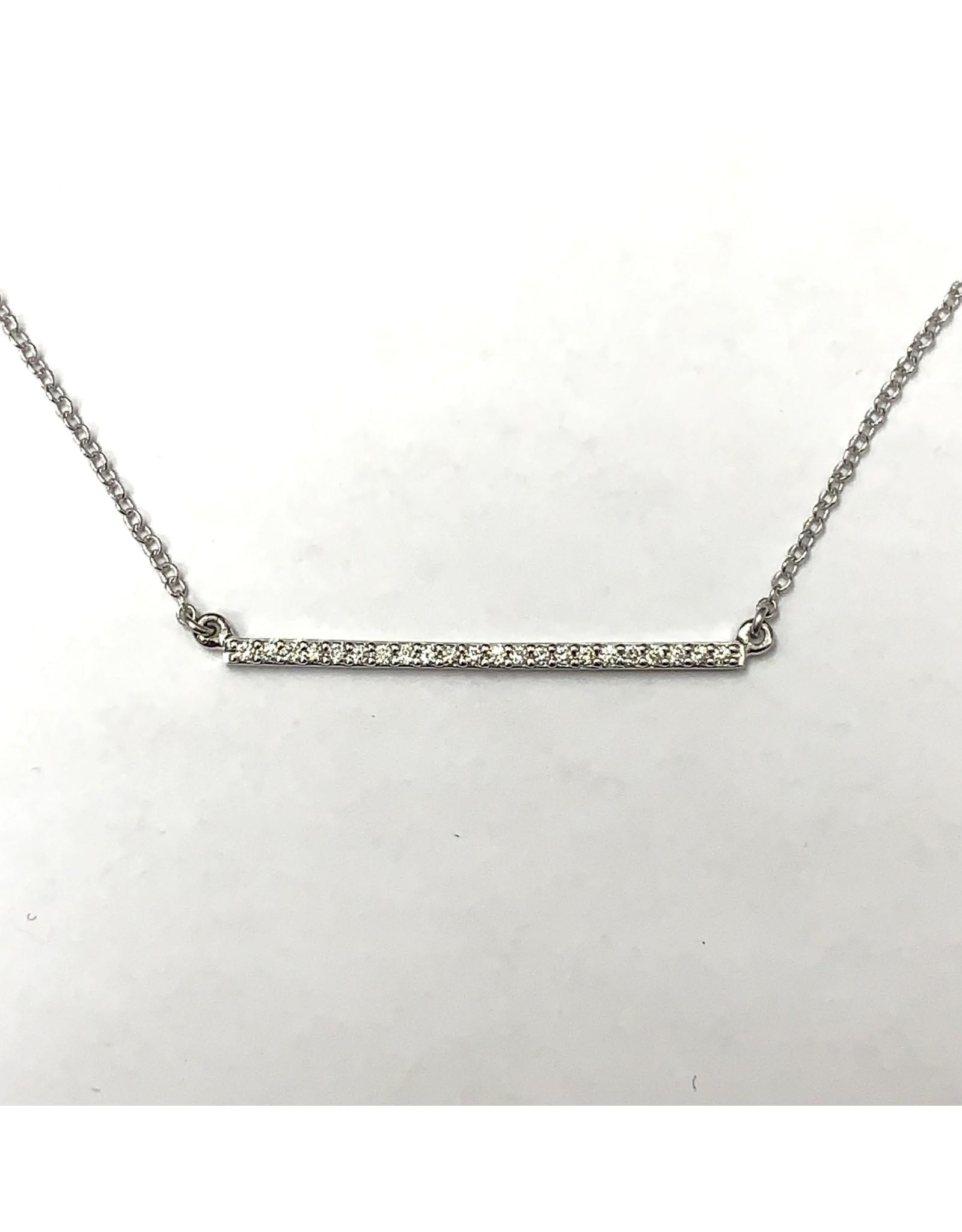 Diamond Bar Necklace 10KW