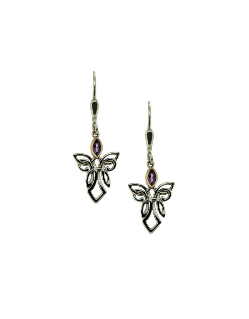 8359e00b1 Keith Jack Guardian Angel Earrings Sterling Silver/10KY - Forest of ...