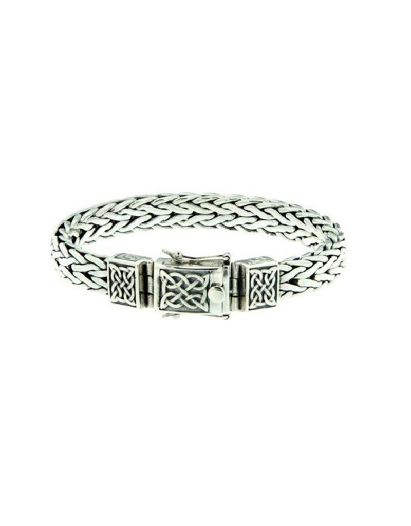 Keith Jack Dragon Weave Bracelet Sterling Silver