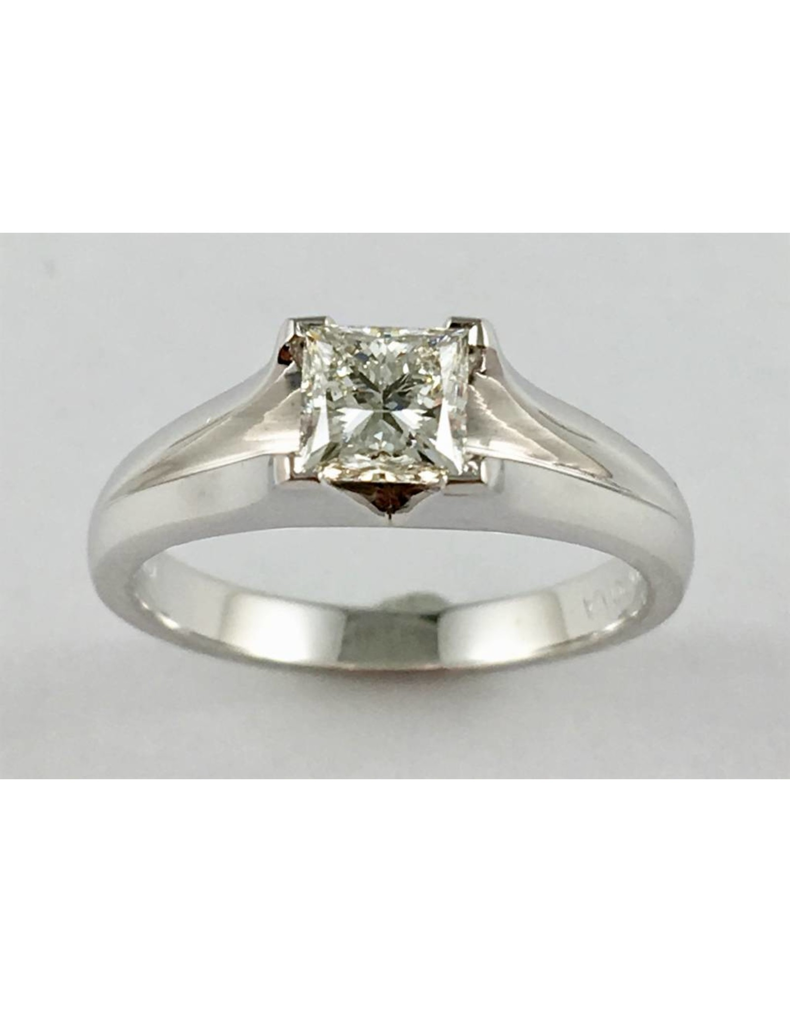 Princess Solitaire Ring (0.73ct Canadian Diamond)