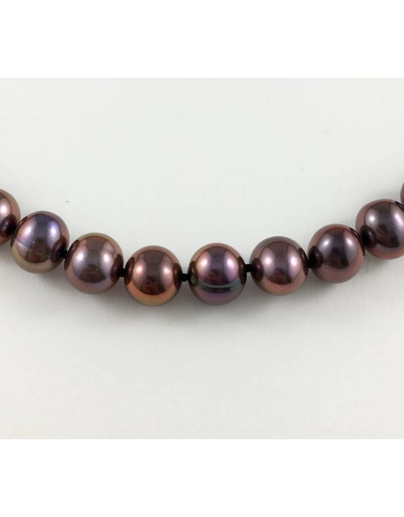 Freshwater (7-8mm) Black/Purplish Pearl Necklace