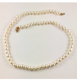 Freshwater (6-6.5mm) Necklace (Yellow Gold Clasp)