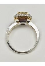 18KW Yellow Diamond Halo Ring (2.17ctw)