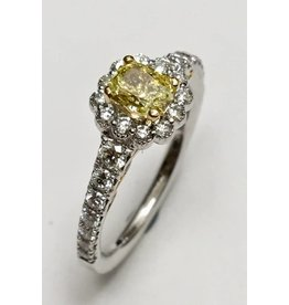 Fancy Yellow Canadian Diamond Halo (1.15ctw)