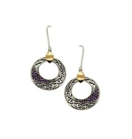 Keith Jack Comet Amethyst Earrings