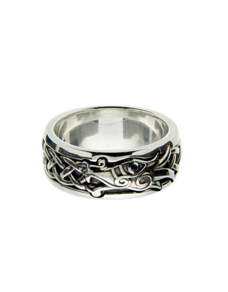 Keith Jack Black CZ Dragon Ring SS