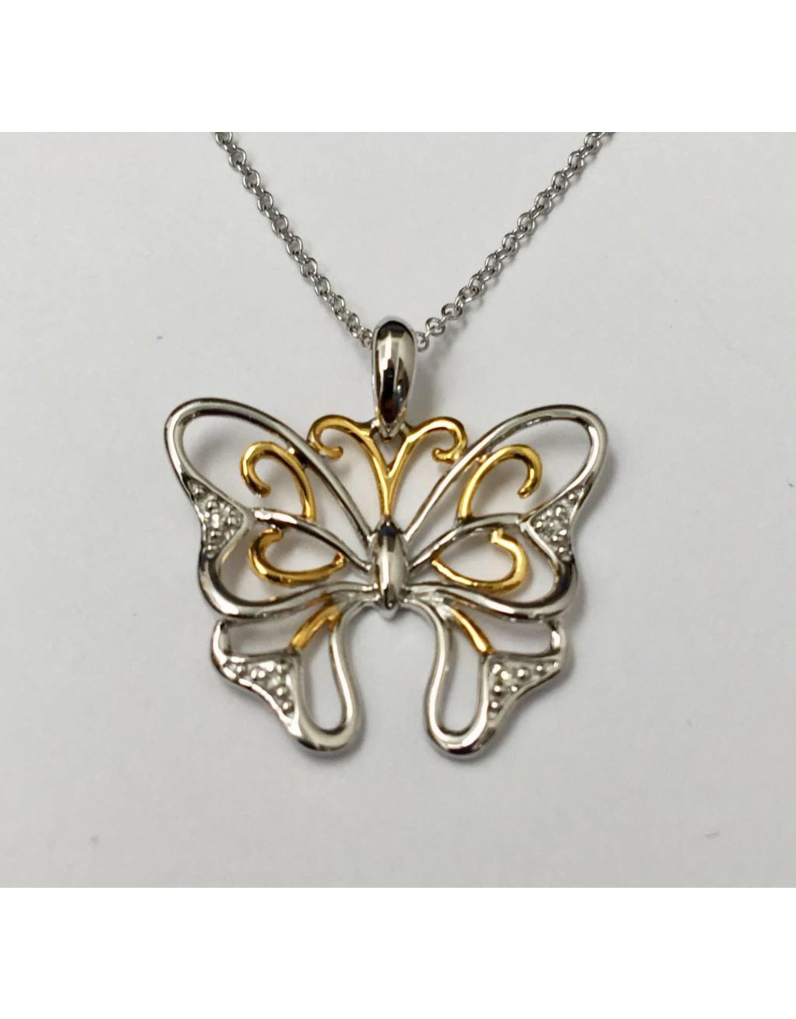 Butteryfly Diamond Pendant 10KWY