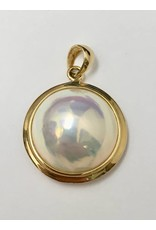 Mabe Pearl Pendant 14KY