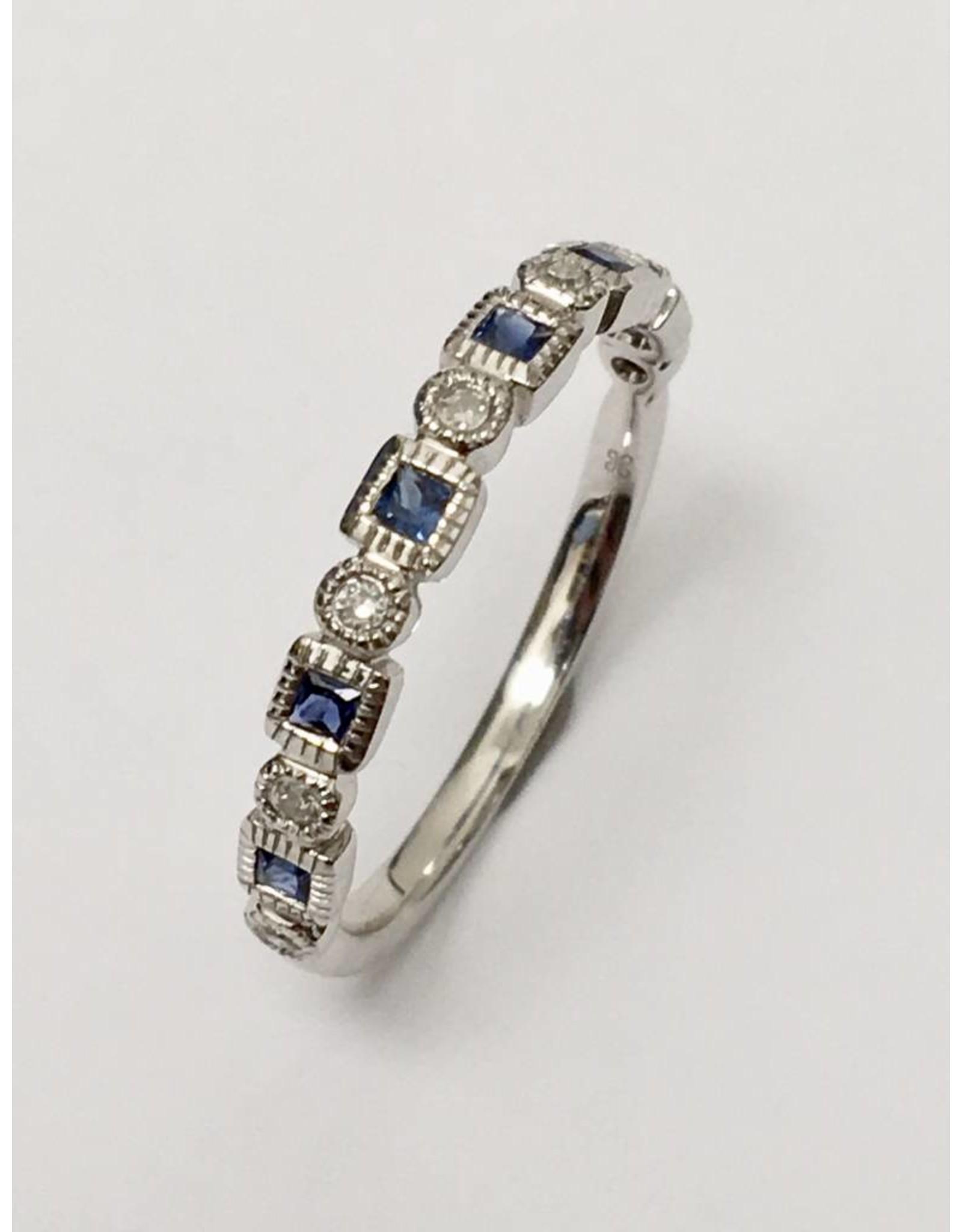 Sapphire & Diamond Band 10KW