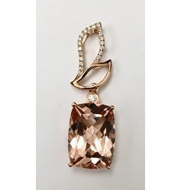 5.50ct Morganite & Diamond Pendant