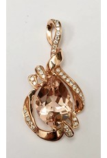 3.63ct Morganite & Diamond Pendant 14KR
