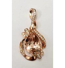 3.63ct Morganite & Diamond Pendant